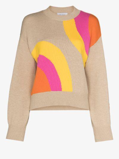 Soul Rise circle intarsia sweater