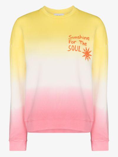 Tie-dye crew neck sweatshirt