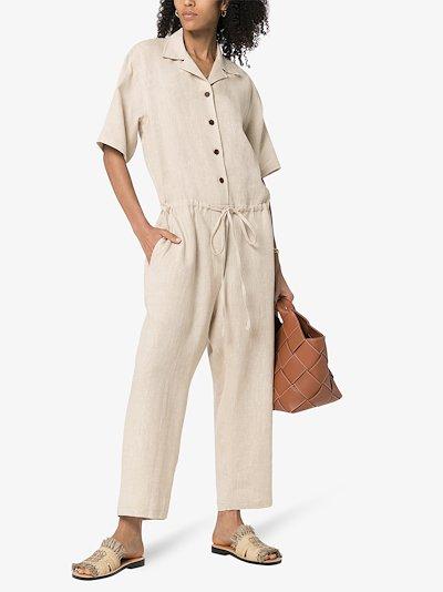button-down jumpsuit