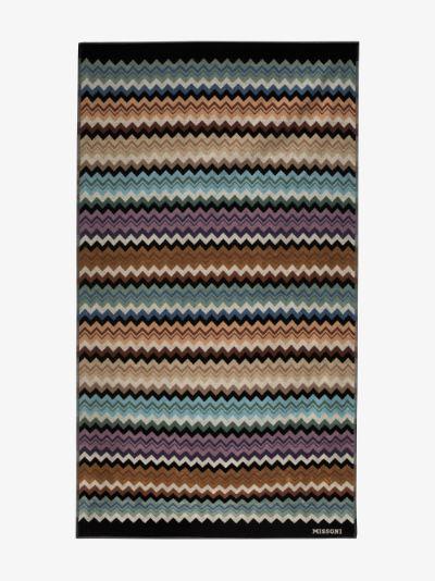 multicoloured Adam printed cotton towel