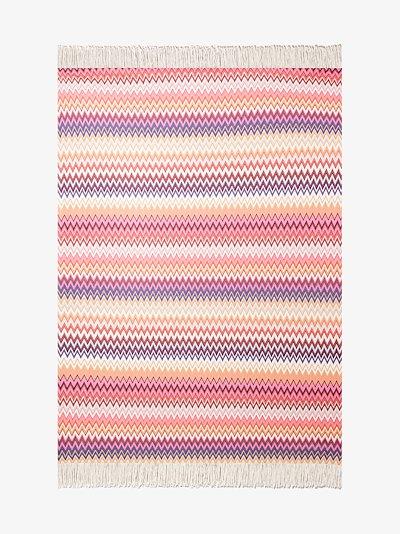 multicoloured Margot zigzag throw