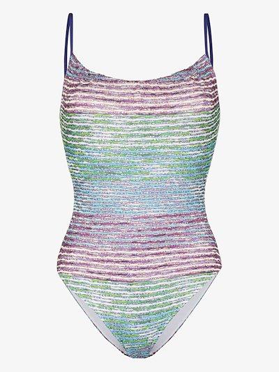 stripe knit swimsuit