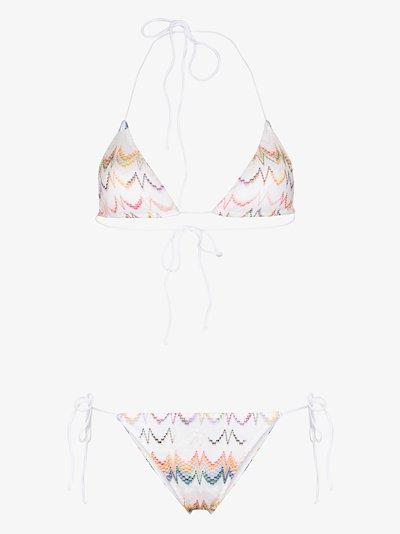 Zigzag triangle bikini