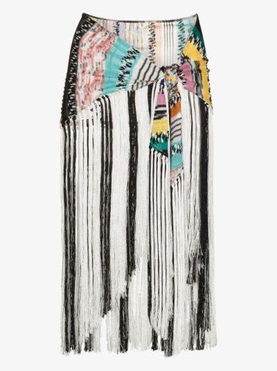 multicoloured Crochet Knit Shawl