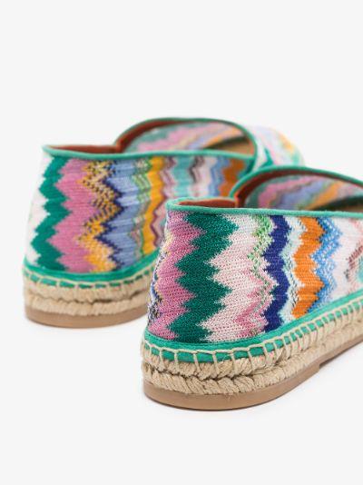 multicoloured patterned canvas espadrilles