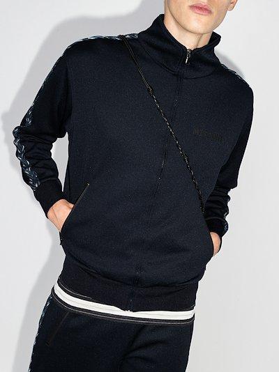 side stripe zip-up sweatshirt
