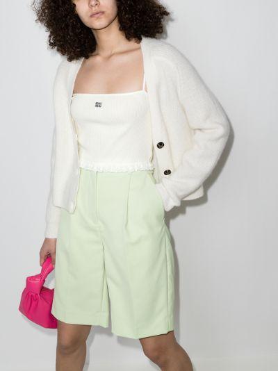 cropped cotton vest top