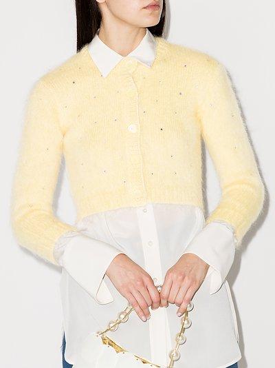 embellished mohair cardigan