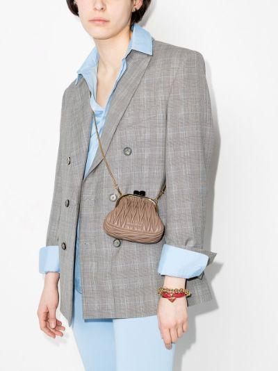 neutral Belle leather mini bag