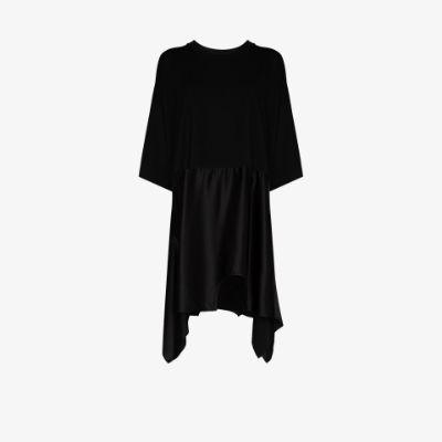 asymmetric hem T-shirt dress