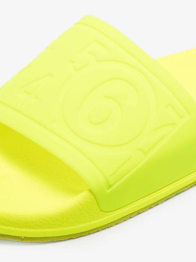 debossed slip-on slides