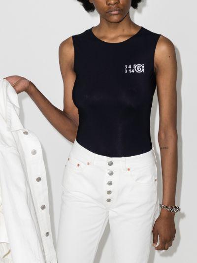 logo print bodysuit