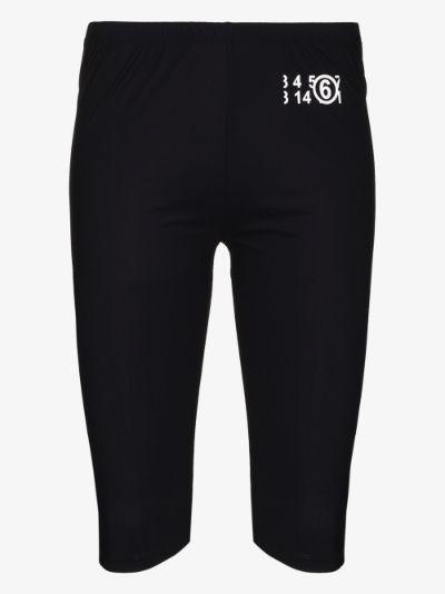 logo print cycling shorts
