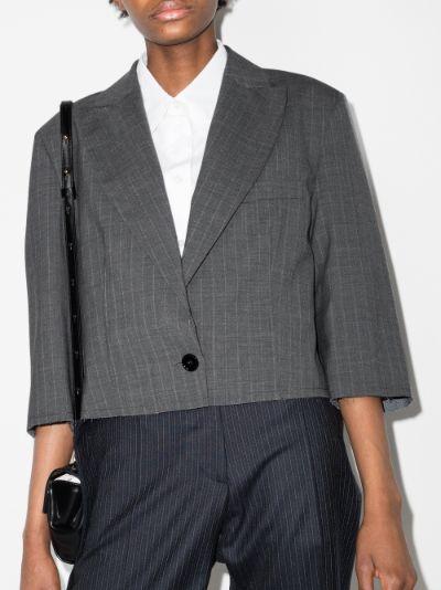 pinstripe cropped blazer