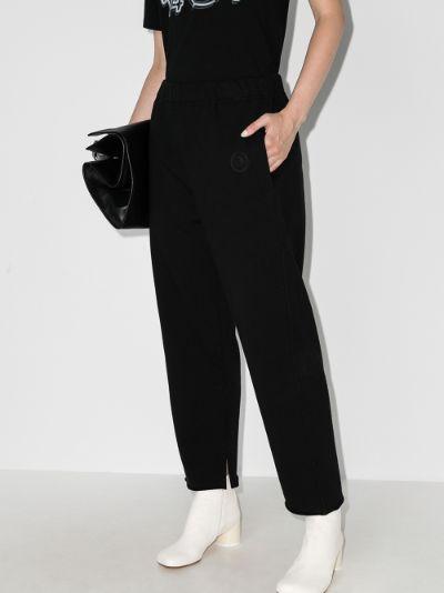 split hem cropped trousers