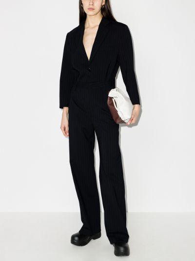 tailored pinstripe jumpsuit