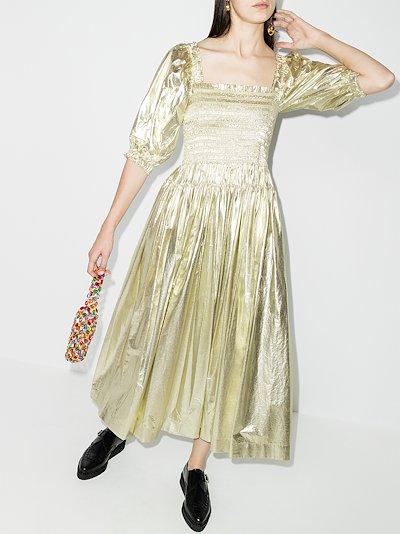 Camilla shirred dress