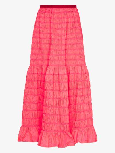 Emanuelle shirred maxi skirt