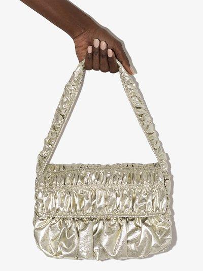 Gold ginza baguette shoulder bag