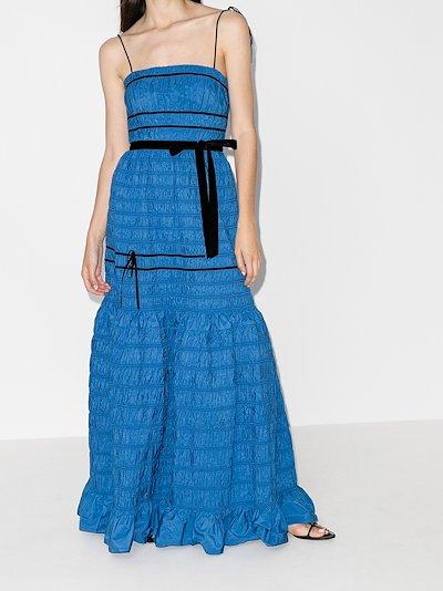 Minnie Shirred Taffeta Gown