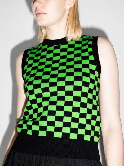 Selwyn checkerboard sweater vest