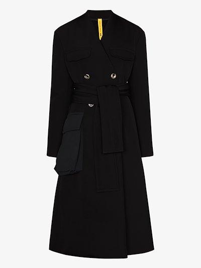 2 Moncler 1952 large pocket belted coat
