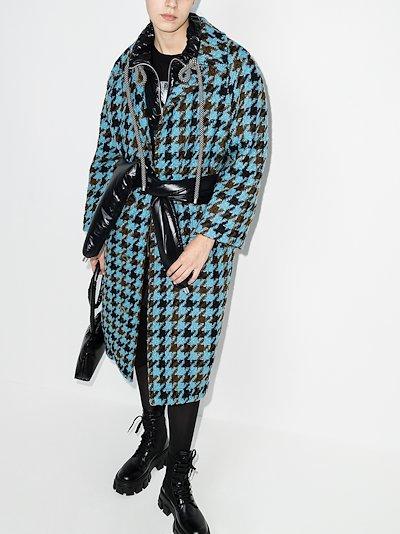 2 Moncler 1952 Rineke tweed belted coat