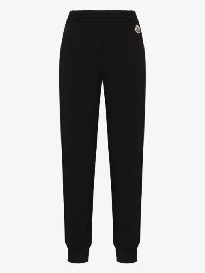 appliqué cotton track pants