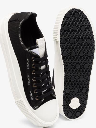 black glissiere canvas sneakers