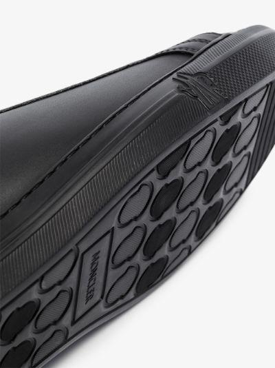 black New Monaco leather sneakers