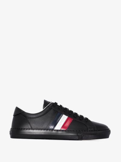 Black New Monaco striped leather sneakers
