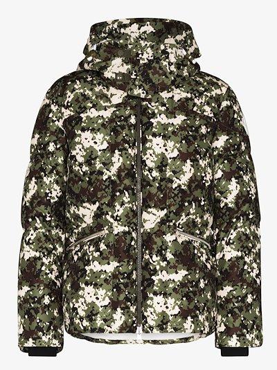 Blanc camouflage print down jacket