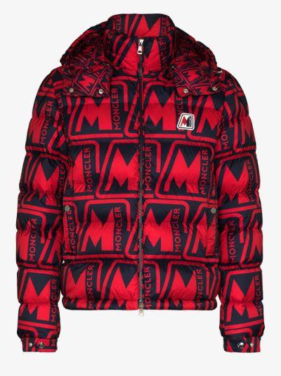 Frioland logo print padded jacket