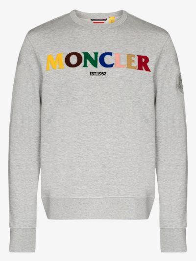 2 Moncler 1952 flocked logo sweatshirt