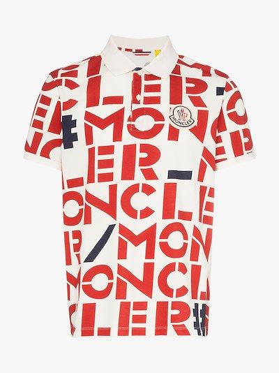 2 Moncler 1952 Logo print polo shirt