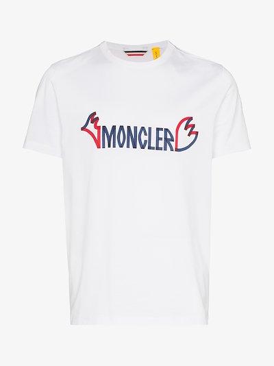 2 Moncler 1952 Logo Print T-Shirt