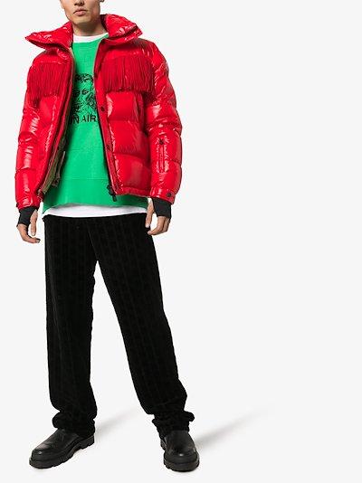 3 Grenoble padded fringed jacket