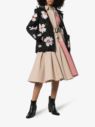 4 Moncler Simone Rocha snow flower hooded jacket
