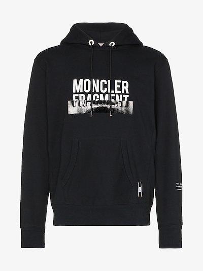 7 Moncler Fragment contrast logo drawstring hoodie