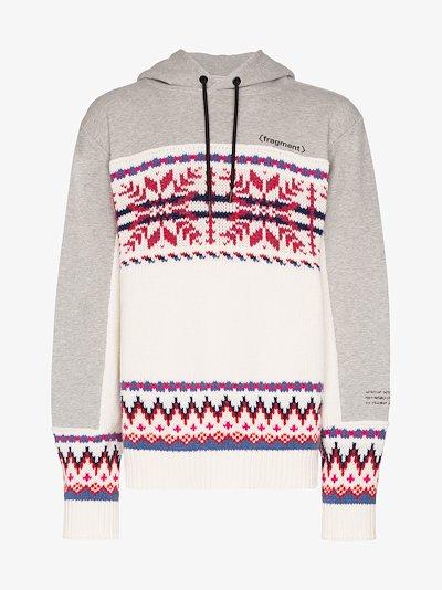 7 Moncler Fragment Fair Isle knit hoodie
