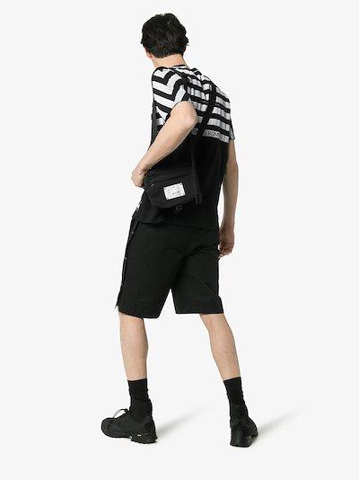 7 Moncler Fragment half striped T-shirt