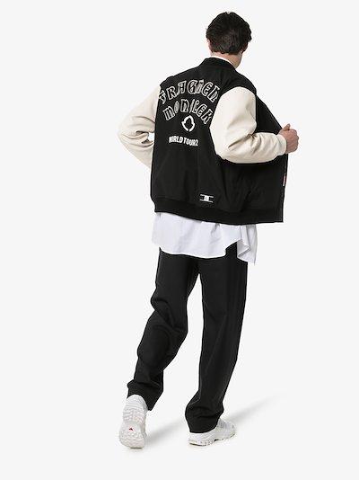 7 Moncler Fragment letterman bomber jacket