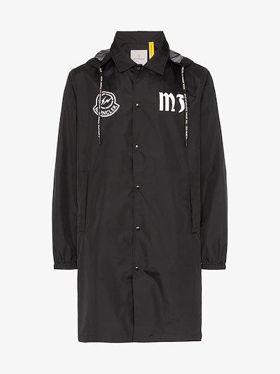 7 Moncler Fragment logo hooded jacket