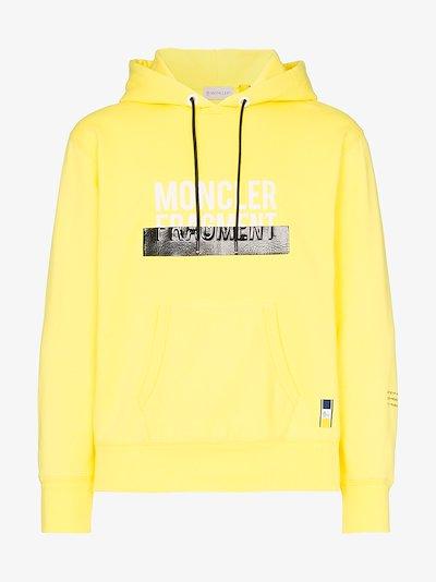 7 Moncler Fragment Logo tape drawstring hoodie
