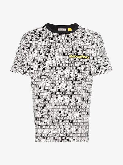 7 Moncler Fragment multi logo cotton T-shirt