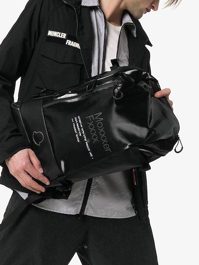 black 7 Moncler Fragment leather backpack