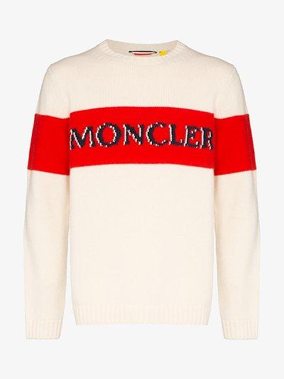 Front logo stripe sweater