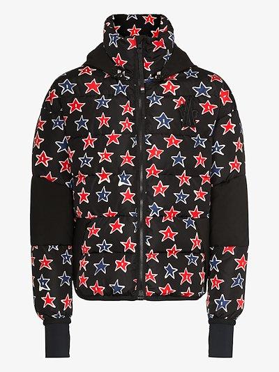 Gollinger star print puffer jacket