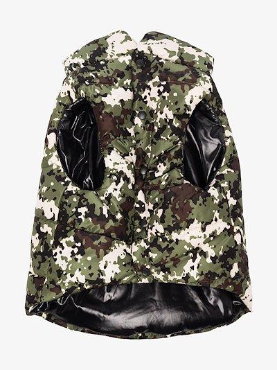 Poldo camouflage dog puffer jacket