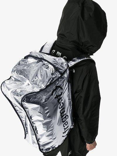silver 7 Moncler Fragment logo backpack